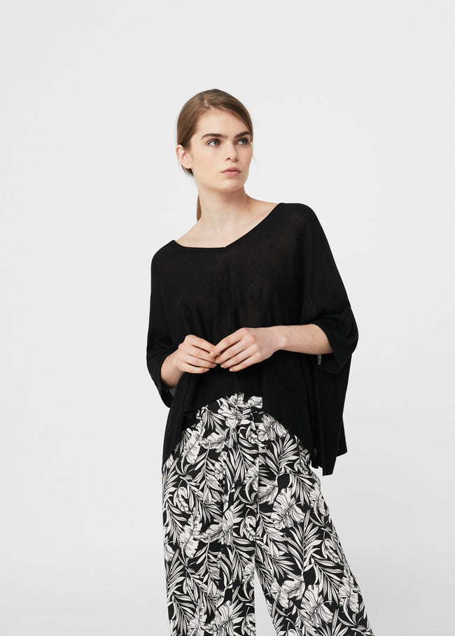MANGO-Side slits sweater