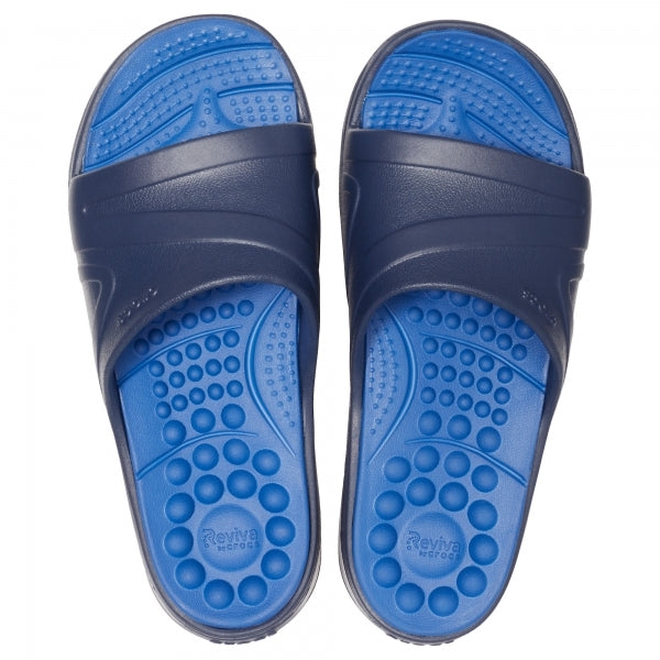 Crocs 205546 REVIVA SLIDE Mens Sandals Navy/Blue Jean