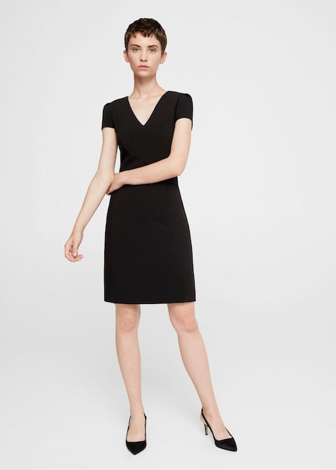 MANGO-Seam bodycon dress