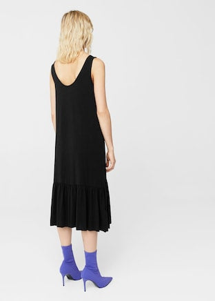 MANGO-Ruffled midi dress