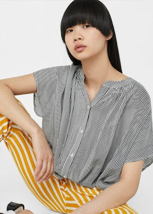 MAGNO-Flowy striped blouse