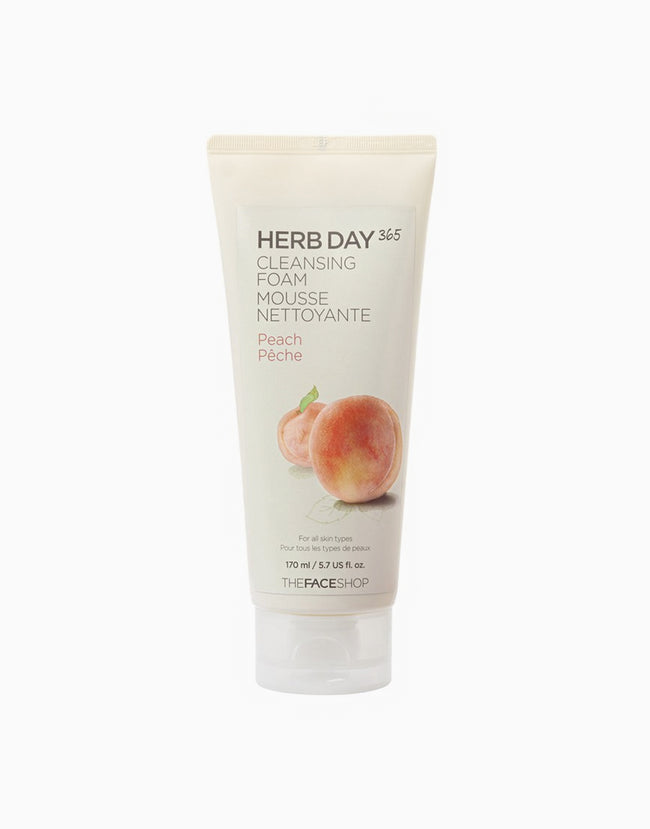 The Face Shop Herb Day 365 Cleansing Foam (Peach)