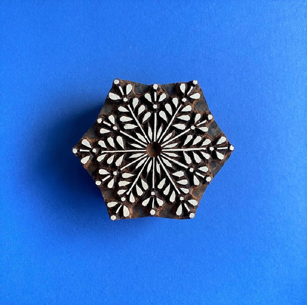 Indian Printing Block- Festive Snowflake