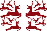 Mini Flying Christmas Reindeer Wall Stickers
