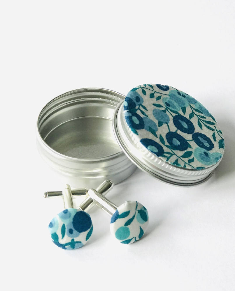 Liberty cufflinks in a matching tin