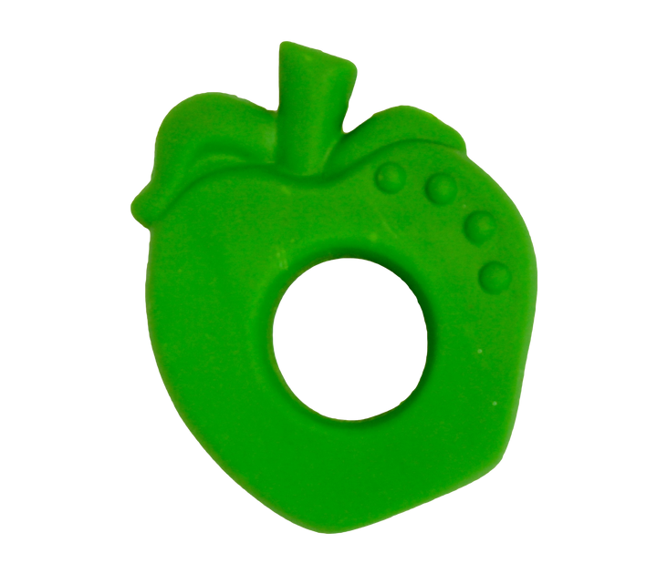 Natural Rubber Apple Baby Teether