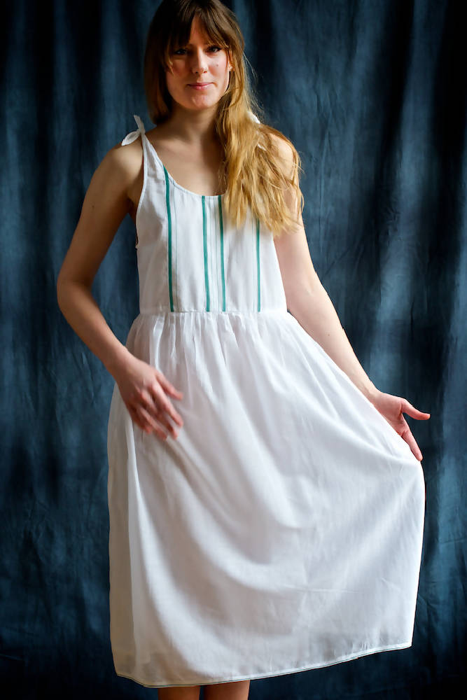 Issy Cotton Nightdress - Green