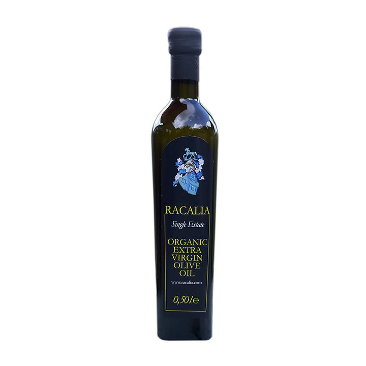 Half litre bottle of Racalia Organic Olive Oil
