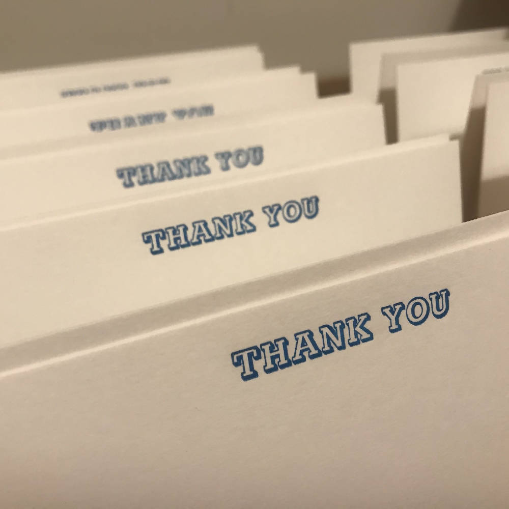 THANK YOU in NEON inks