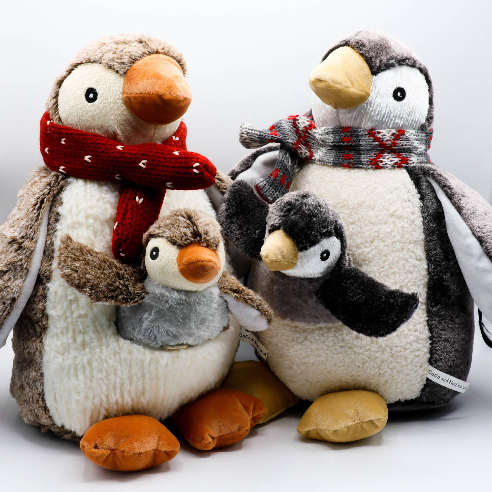 Plush PENGUIN Mother & baby set **choice of colours**