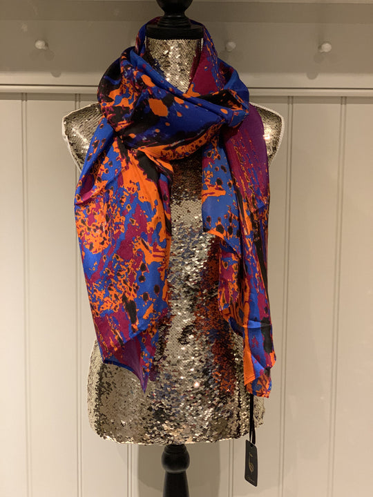 Amber Butterfly Silk Scarf