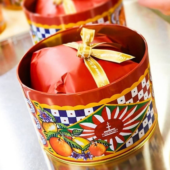 Dolce & Gabbana Agli agrumi (Citrus fruits and Sicilian saffron) - Red Hatbox Tin