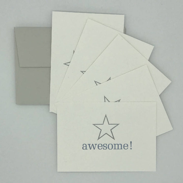Large 5 point Star awesome! Notecards
