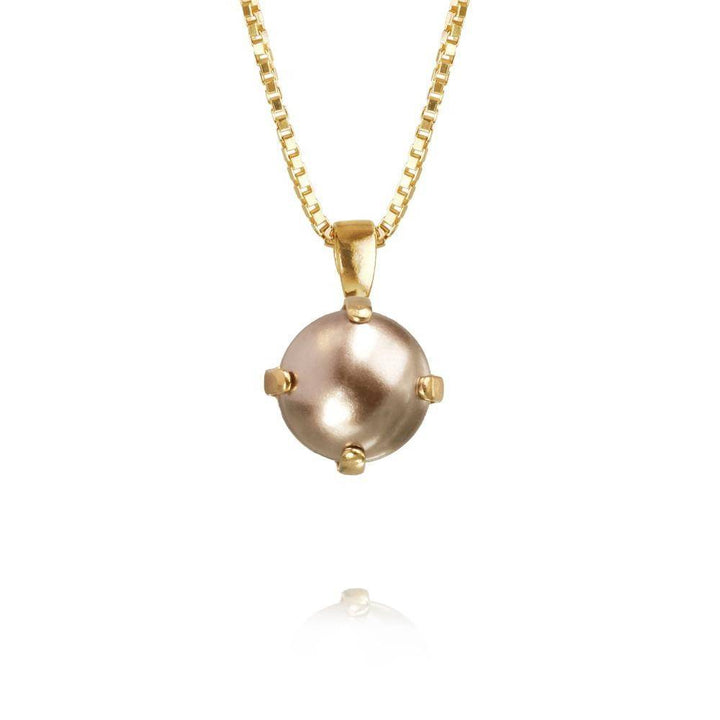 Gold Bronze Pearl Necklace - by CAROLINE SVEDBOM