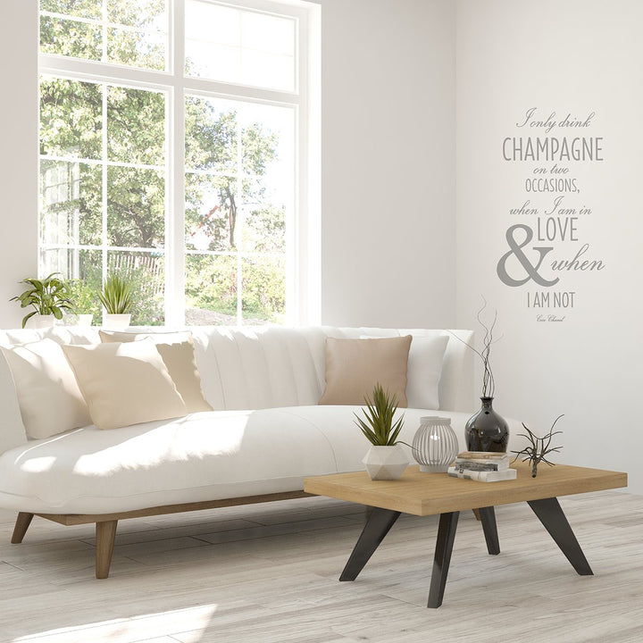 Chanel Champagne Quote Wall Sticker