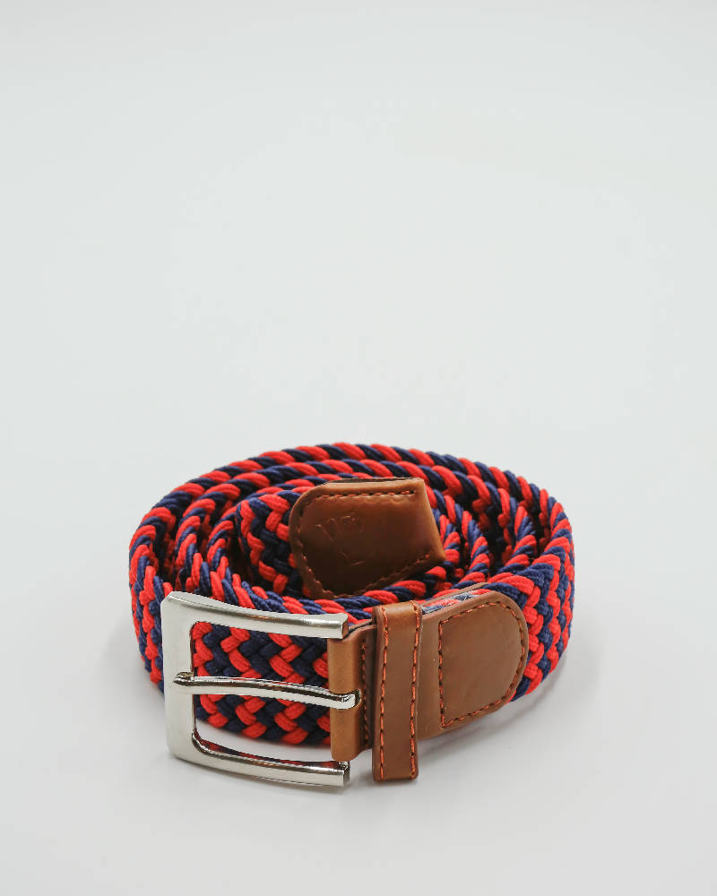 Red and navy zigzag belt.