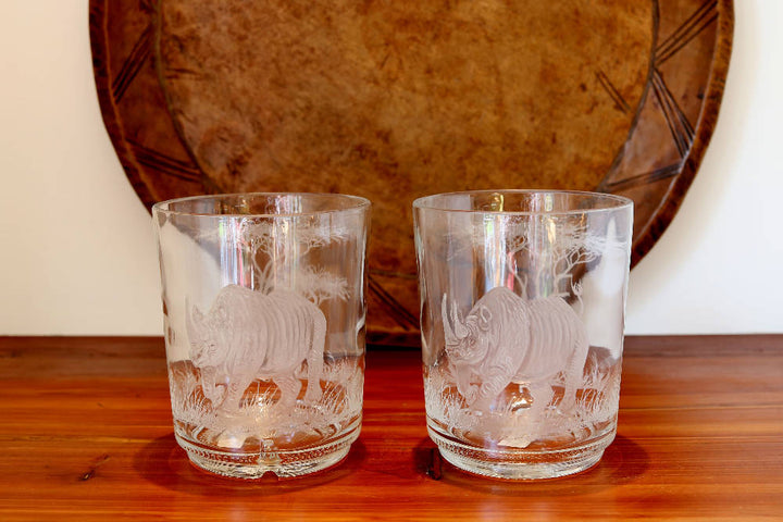 Pair of Small Rhino Vase/Candle Holders