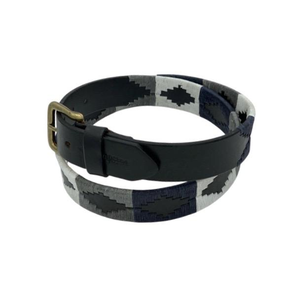 Classic Polo Belt Navy, Grey and White