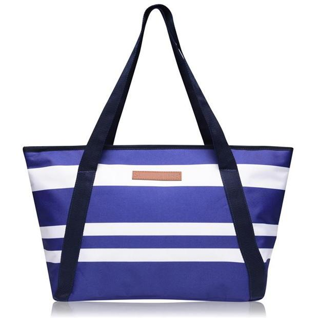 Cooler Bags - Blue and White Stripes