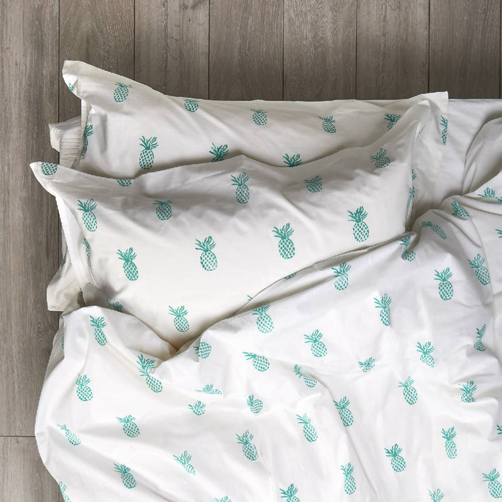 Pineapple Bedding Aqua