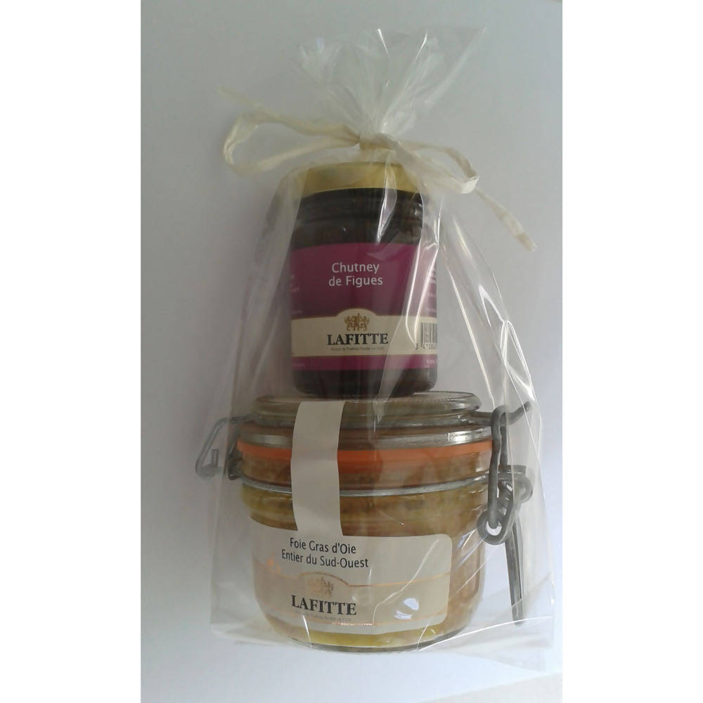 Gift Pack Whole Goose Foie Gras + Fig Chutney