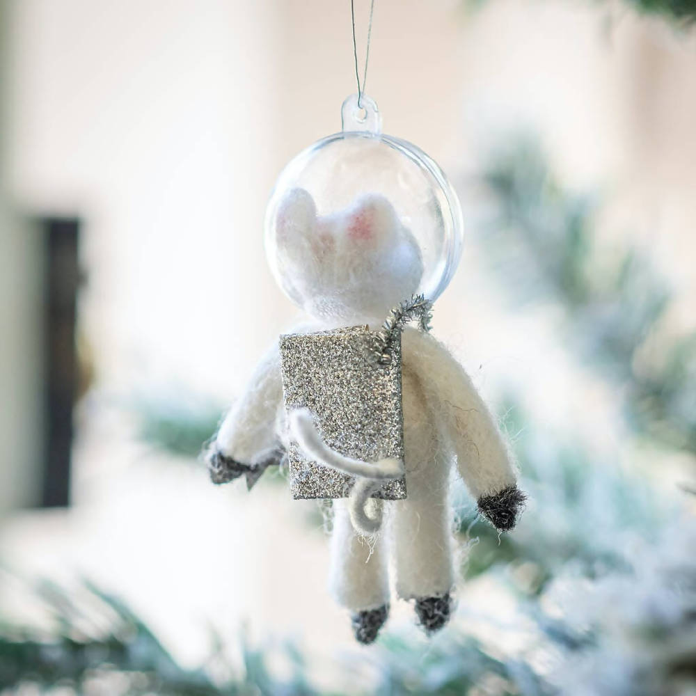 Sass and Belle Outer Space Mouse Hanging Felt Decoration