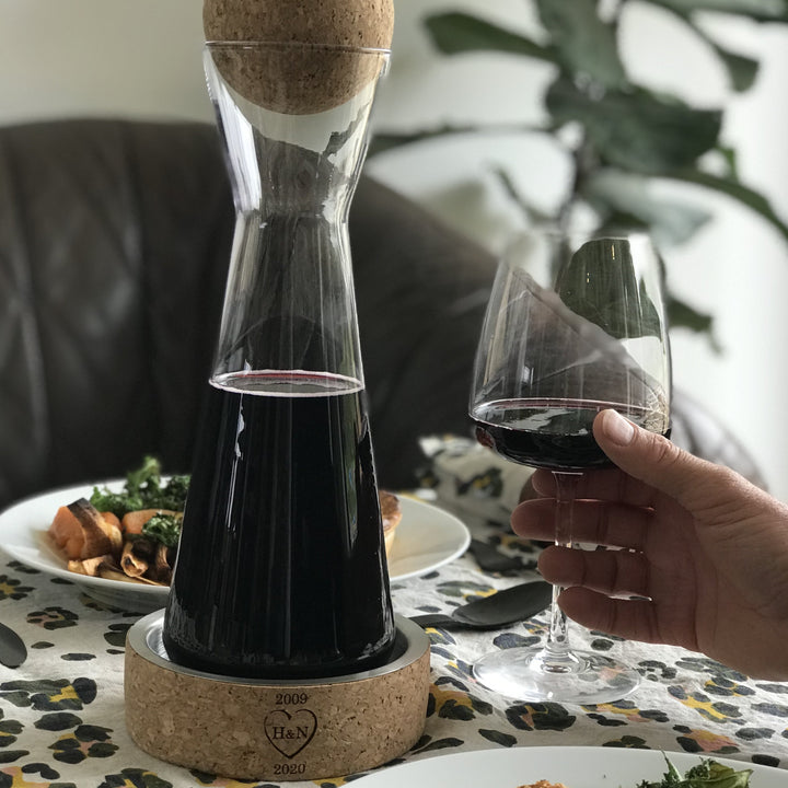 Crystal & Cork Carafe - 11th Anniversary Gift