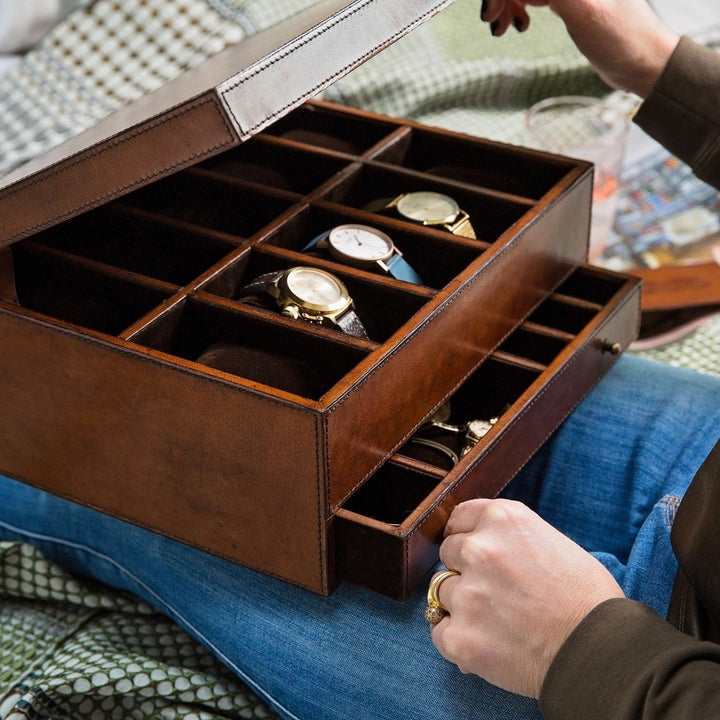 Ladies Luxury Leather Jewellery And Watch Box