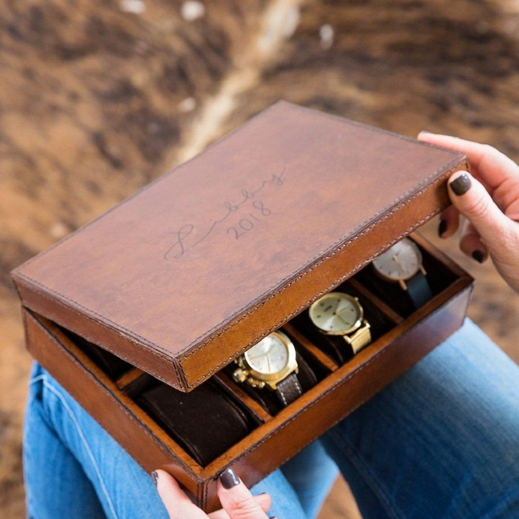 Ladies Leather Watch Box Large