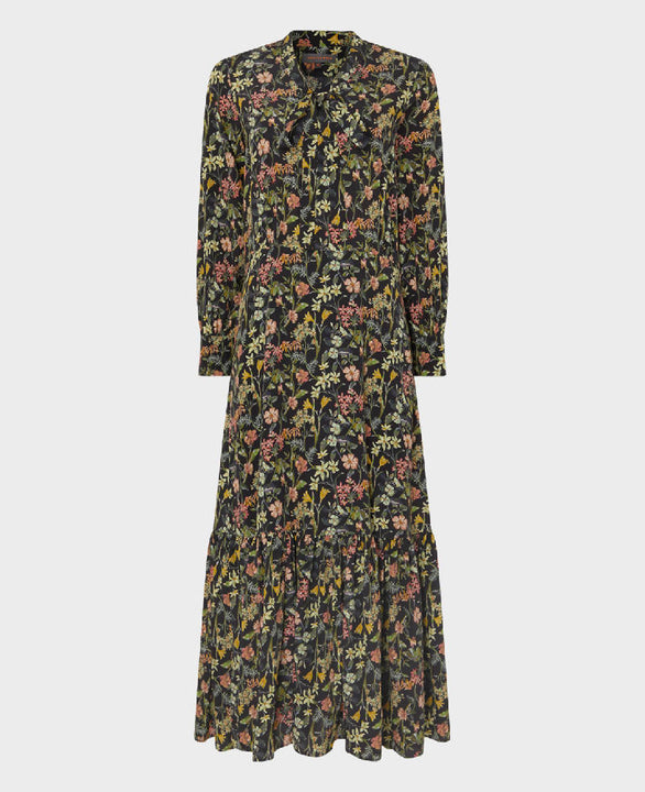Low Tie Neck Dress Made with Liberty Fabric