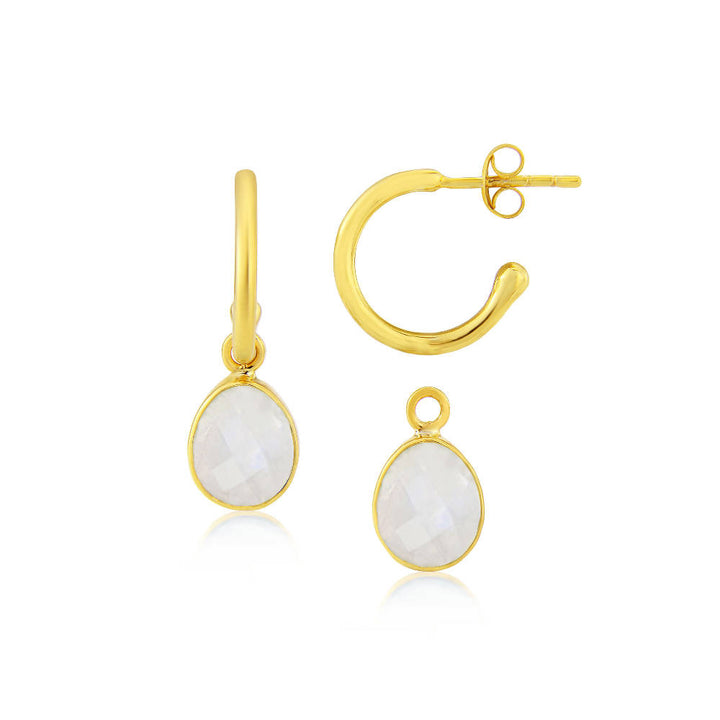Manhattan Gold & Citrine Interchangeable Gemstone Earrings