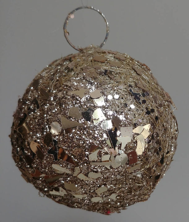 Sisal & Glitter XL Bauble