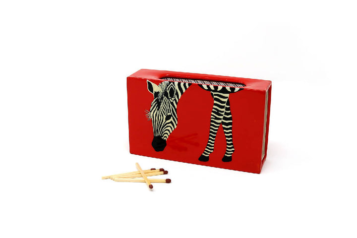 Large Red Zebra Matchbox Covers