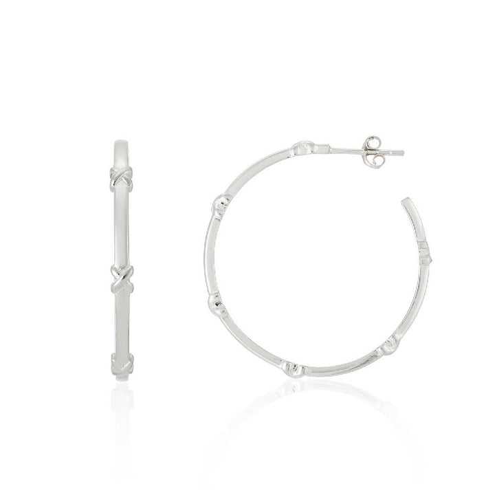 Deia Sterling Silver Kiss Hoop Earrings