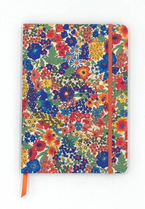 A5 Liberty Fabric Covered Lined Notebook