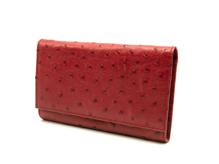 Large Classic Ostrich Leather Wallet