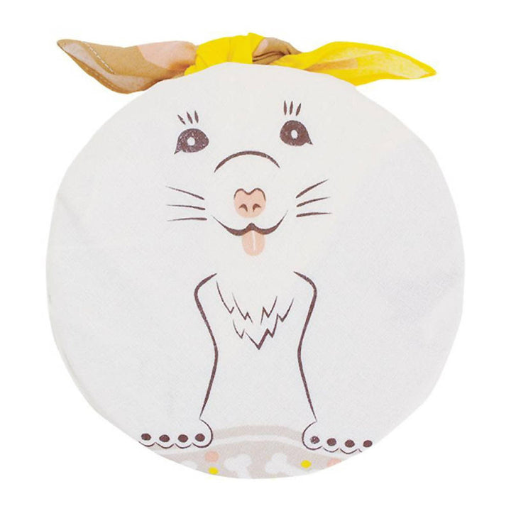 48cm Animal Cochae Furoshiki | Puppy Beige/Yellow