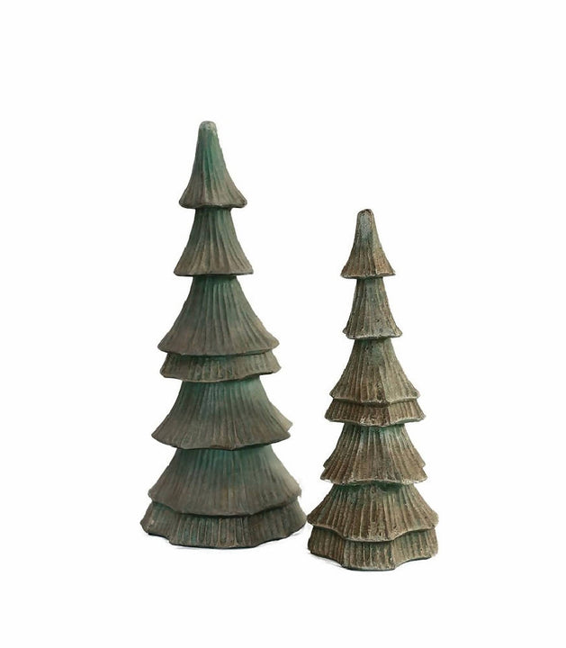 Set of two Christmas trees