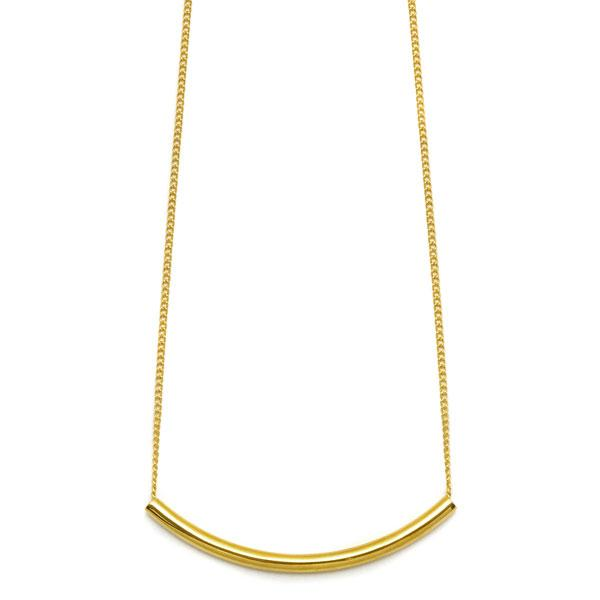 Curved bar pendant - Gold