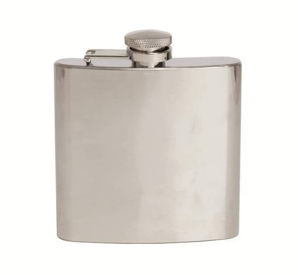 Plain Shiny Stainless Steel 6oz Hip Flask