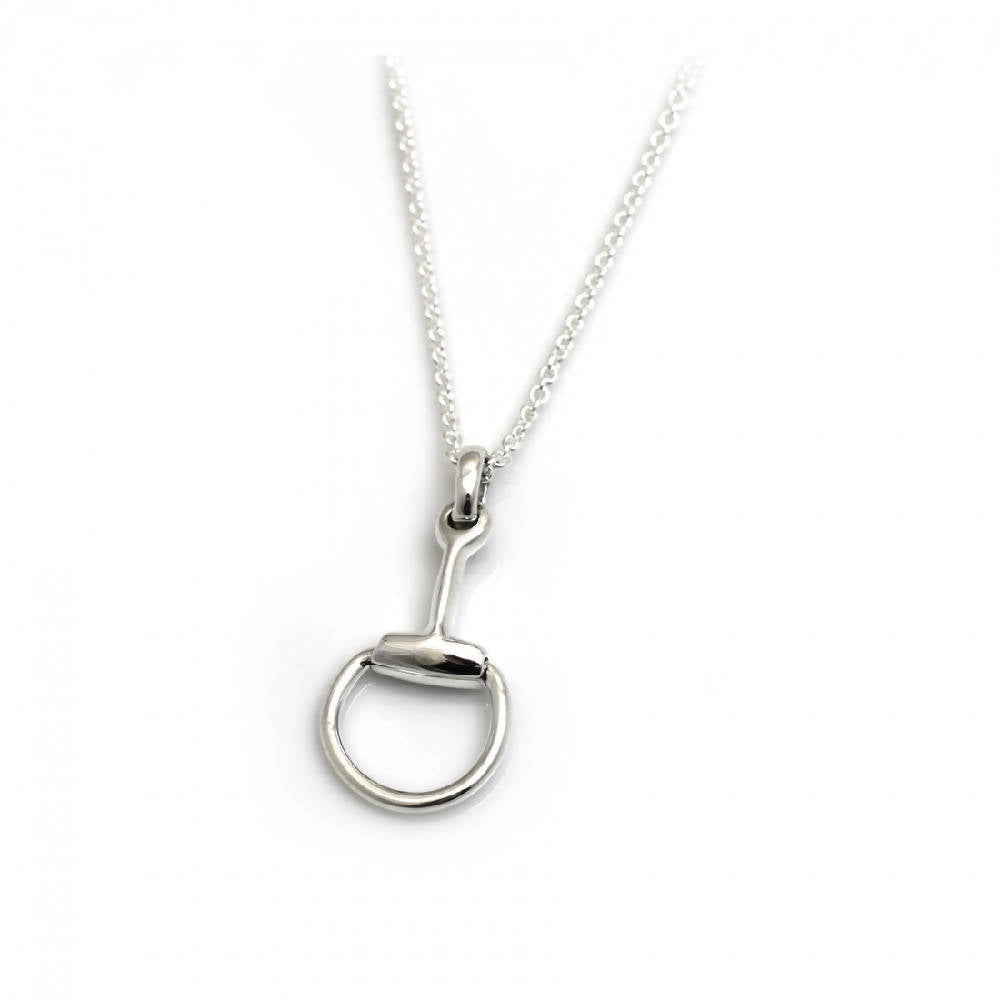 Sterling Silver Snaffle Pendant on Fine Trace Chain