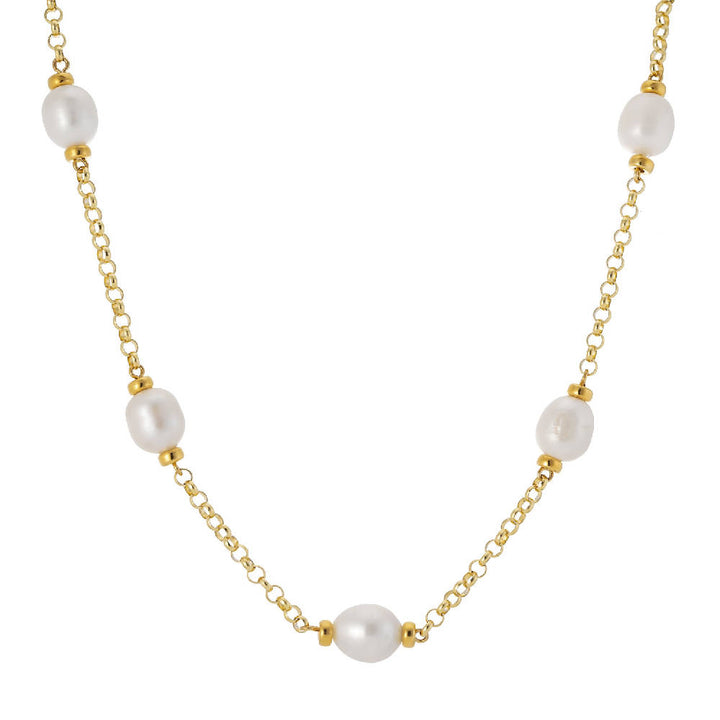 Courtfield Freshwater Pearl & Yellow Gold Vermeil Necklace