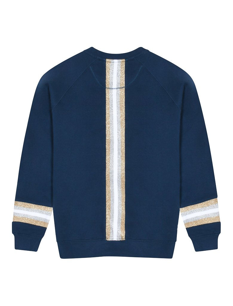 Kids Reverse Stripe Sweatshirt - Dress Blue