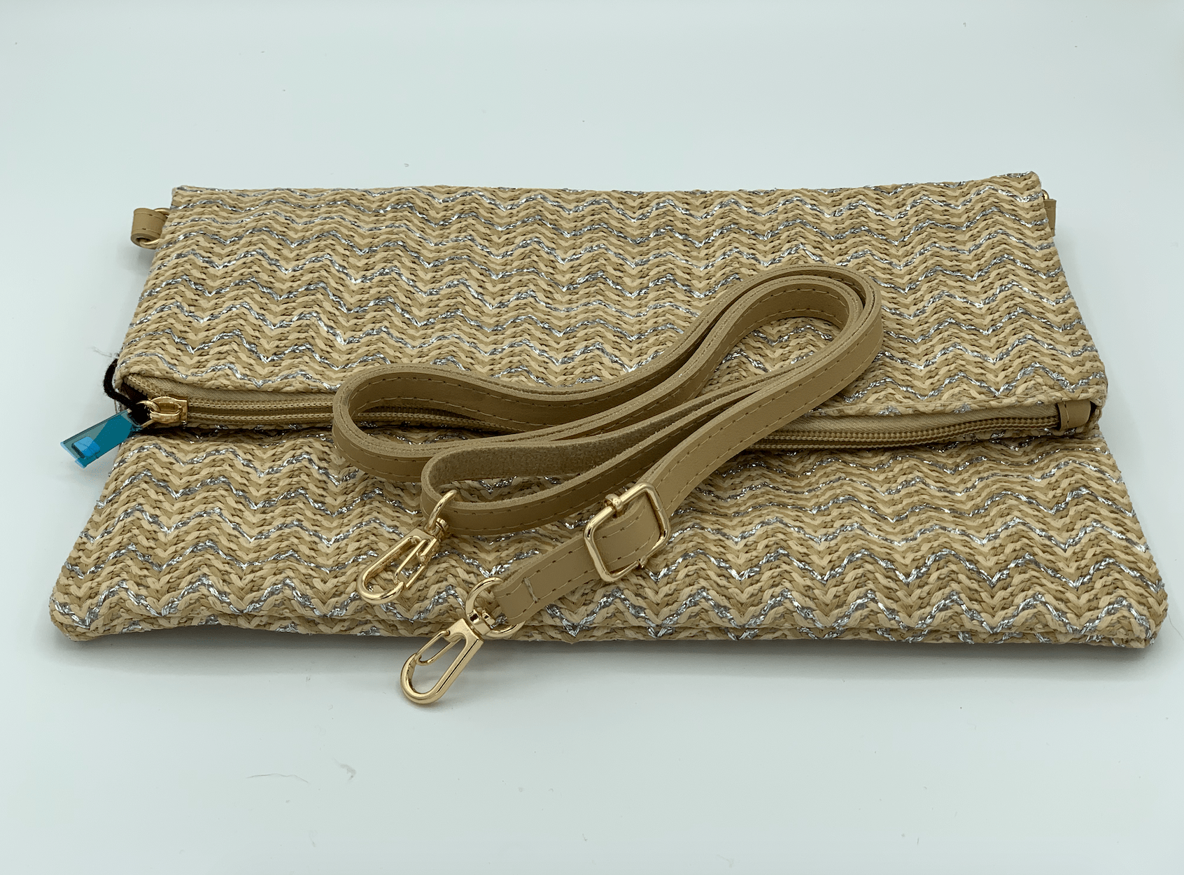 Silver and Gold Clutch Bag