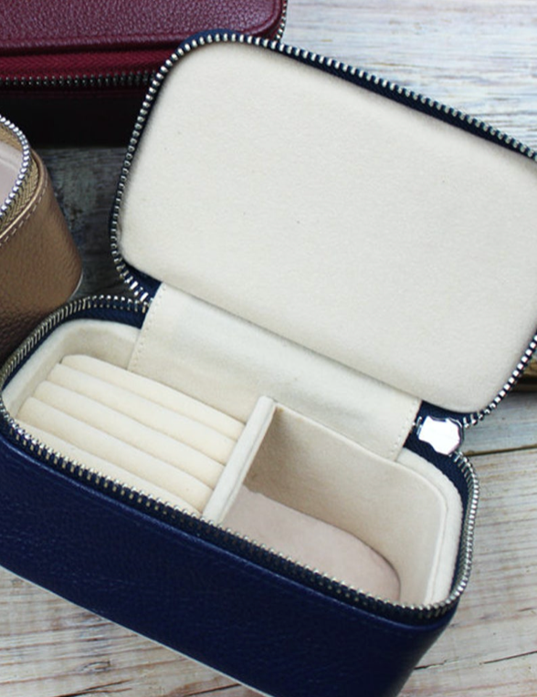 Travel Jewellery Box Navy