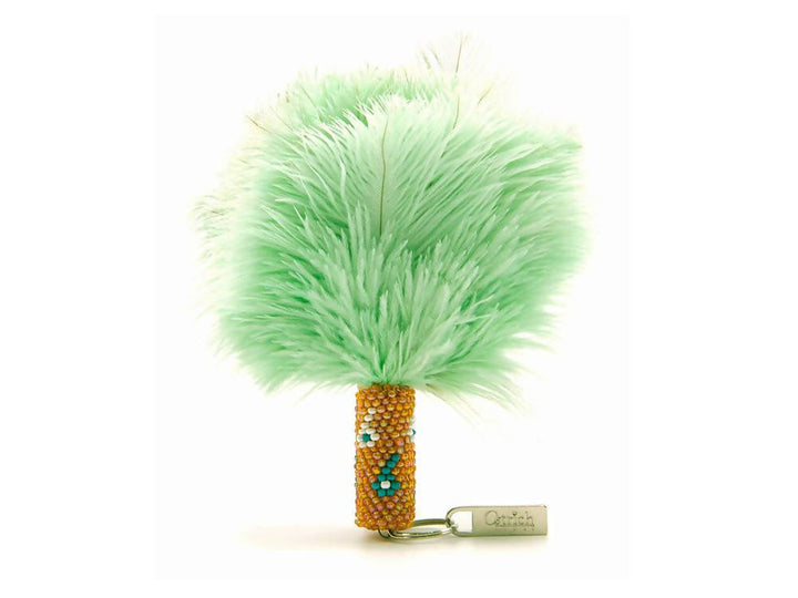 Ostrich Beaded Feather Keyring