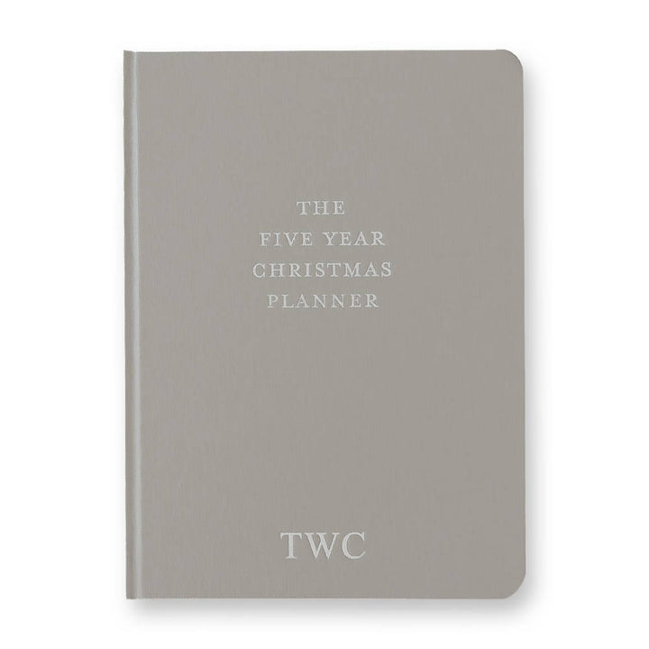 Five Year Christmas Planner - Grey