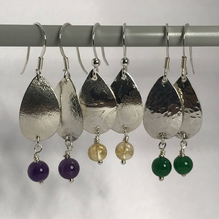 Shell and Gemstone Beads Earrings