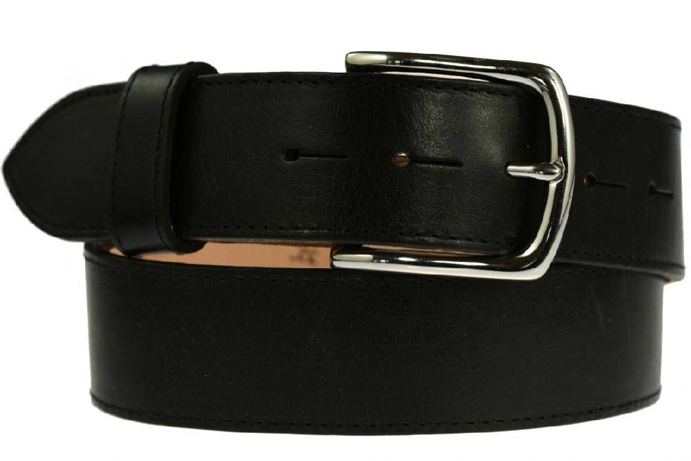Classic Black Genuine Leather Belt For Everyday Wear (40mm)