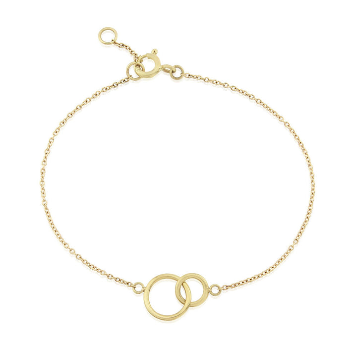 Kelso Interlinking Silver and Yellow Gold Rings Bracelet